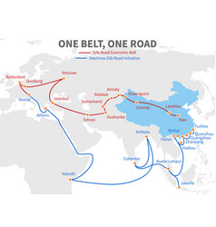 One belt - one road chinese modern silk road vector