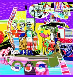 original contemporary art monument vector image