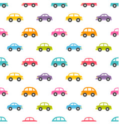 Pattern with colorful cars vector