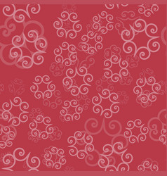 Pink color ornament of mandalas on a light red vector