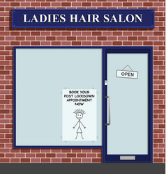 post lockdown hair cut vector image