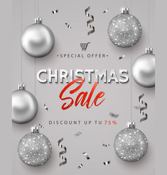poster for christmas sale vector image