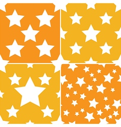 seamless star pattern 4 style vector image vector image