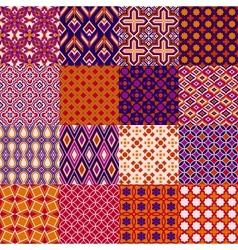 Set classic bright geometric patterns vector