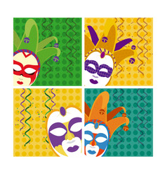 set of carnival cards vector image