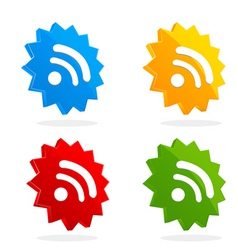 Set of RSS icons vector