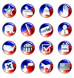 set political buttons vector image
