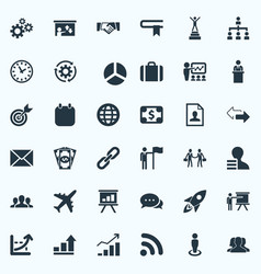 Set simple solution icons vector