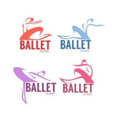 Silhouette of beauty ballet dancer logo vector