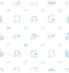 Stack icons pattern seamless white background vector