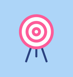 target symbol pink and white target on blue vector image