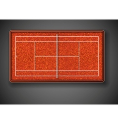 Tennis court vector image