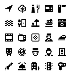 Tourism and Travel Icons 8 vector image