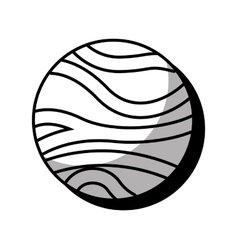 Venus planet isolated icon vector