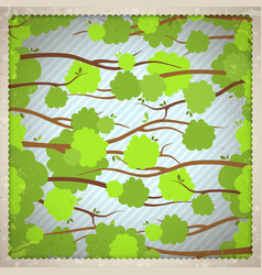 Vintage background with tree branches vector image
