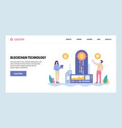 Web site gradient design template vector
