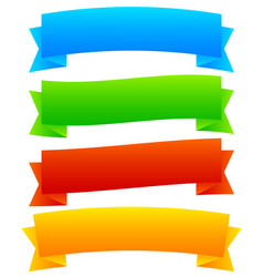 wide blank horizontal banners 4 colors included vector image