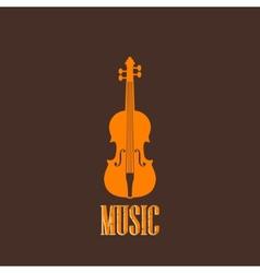 With a violin vector