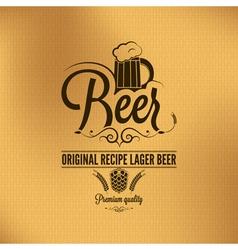 beer label background vector image vector image