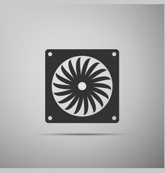 computer cooler icon pc hardware fan vector image vector image