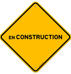 Isolated single en construction sign vector image vector image