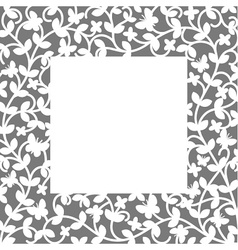Plant frame vector image vector image