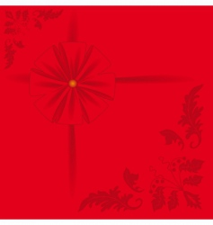 red background with a bow vector image