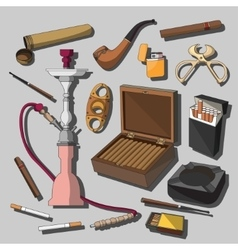 Cigarettes Cigars and Smoking Accessories vector image