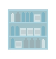 Shelf stand furniture design vector image