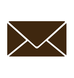 silhouette envelope closed icon flat vector image vector image