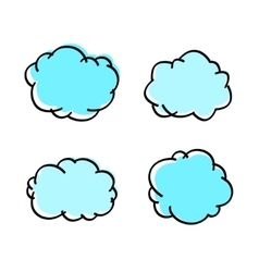 cloud hand-drawn vector image