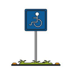 handicap parking sign icon imag vector image