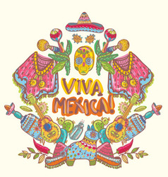 mexico collection vector image vector image