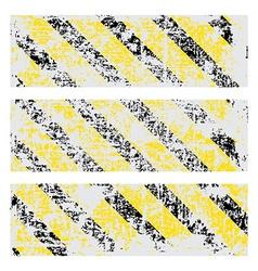 three old worn tattered scratch rectangular vector image