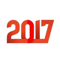 2017 happy new year logo vector