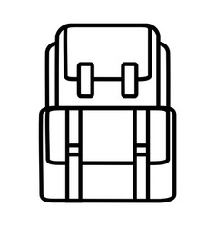 backback outline icon vector image vector image