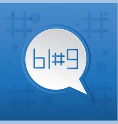 blog trending post concept vector image