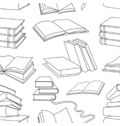 Books pattern isolated on white background vector image
