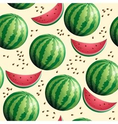 Bright seamless wallpaper with watermelon vector image vector image