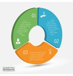 isometric circle element for infographic vector image
