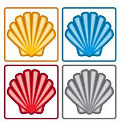 sea shell icons vector image
