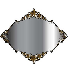 silver and gold frame vector image vector image