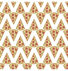 A slice of pizza seamless pattern vector image