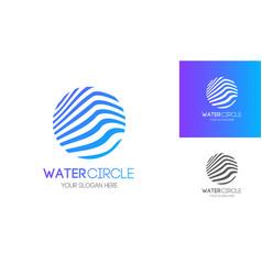 abstract water circle logo modern style vector image