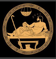 Ancient greek god zeus vector
