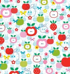 Apple strawberry vector