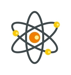 Atom with electrons icon flat style vector image