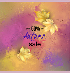 Autumn watercolor banner vector