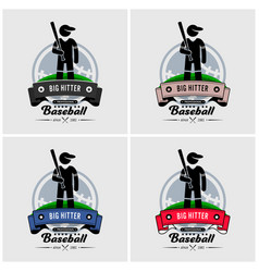 baseball club logo design artwork baseball vector image