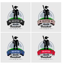 baseball club logo design artwork of baseball vector image